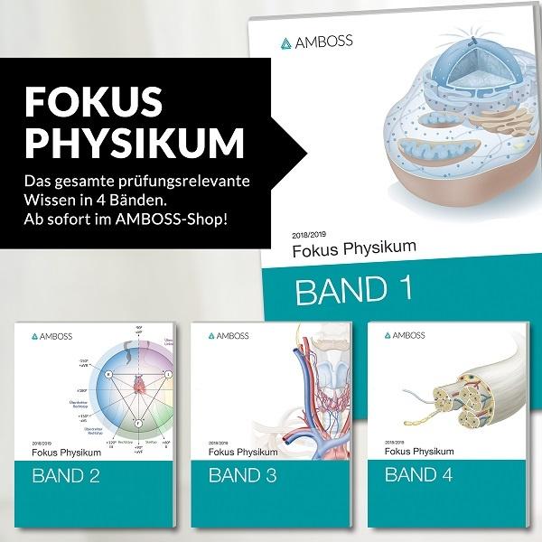 """AMBOSS-Buchreihe """"Fokus Physikum"""""""