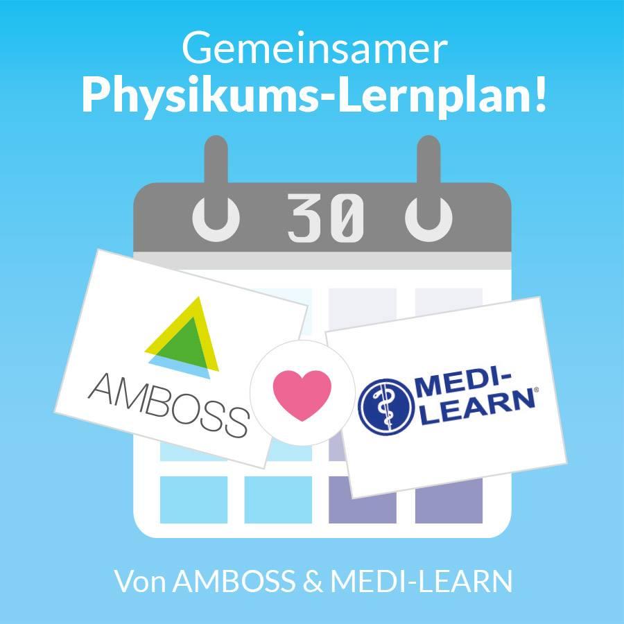 Physikums-Lernplan von AMBOSS und Medilearn