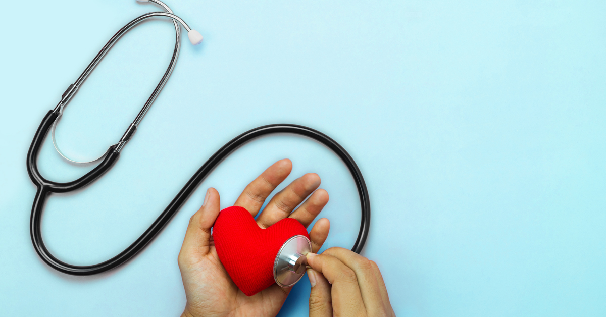 Stethoscope listening to a toy heart for blog post USMLE Step 1 and Step 2 CK question changes